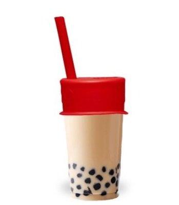 【LUUMI】Bubble Tea Lid 加拿大 100%白金矽膠杯蓋+粗吸管 珍珠奶茶密封蓋