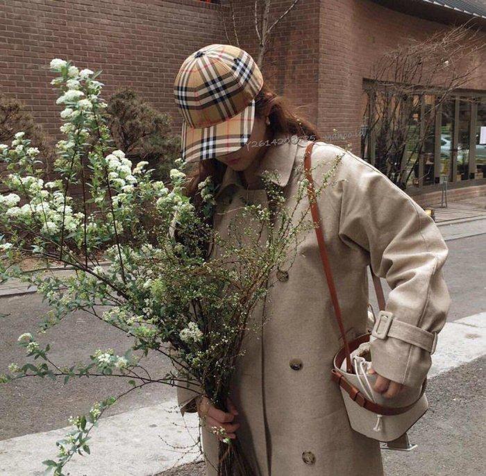 【代購】走秀款 娜娜同款 Burberry 格紋 棒球帽