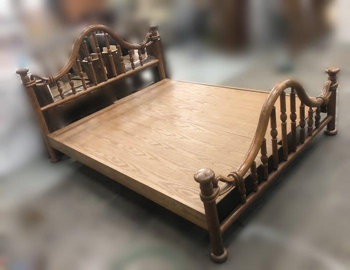 【宏品二手家具館】台中中古傢俱賣場B80902*木色5尺床架* 床板 床底 床箱 中古臥室家具 2手傢俱拍賣衣櫃 化妝鏡