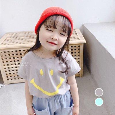 【可愛村】大笑臉印花短袖T上衣 T恤 短袖 童裝 上衣 短T