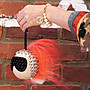 Fendi 7AR492 Karlito Studded Charm for Handbag 老佛爺卯釘吊飾 紅