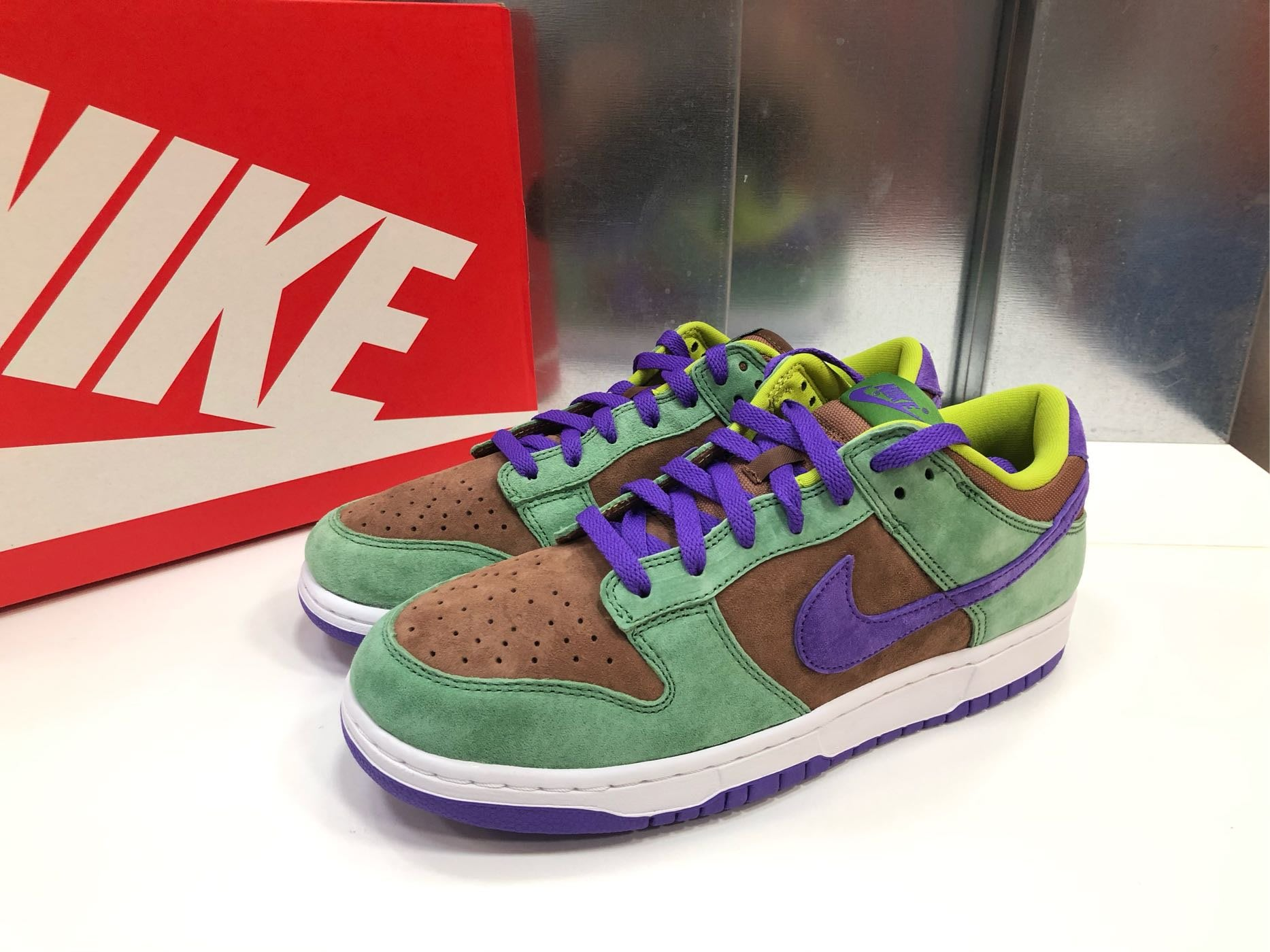 2020 Nike Dunk Low veneer DA1469-600低筒 醜小鴨 棕綠 麂皮 現貨 us6 全新正品