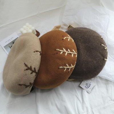 軟妹貝雷帽女秋冬韓國英倫韓版復古畫家八角帽日系刺繡蓓蕾帽CFLP