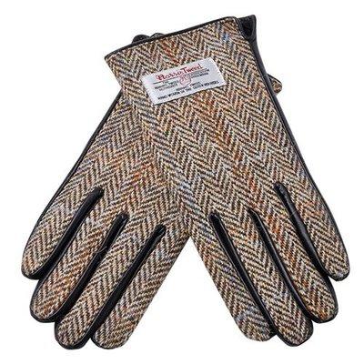觸控手套 真皮手套-羊毛呢拼接山羊皮加絨女手套4色73wm60[獨家進口][米蘭精品]