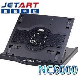 新莊民安《含稅附發票 台灣製造》JetArt 捷藝 NC6000 筆電散熱座 散熱器 六段角度調整 可旋轉 方便攜帶 新北市