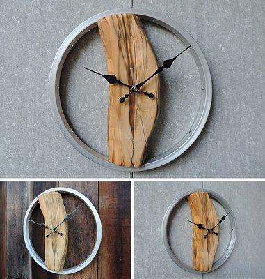 造型時鐘 工業風 手作 台灣 檜木 原木 時鐘 亦可接受訂製【比設力空間設計】