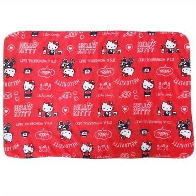 尼德斯Nydus 日本正版 Sanrio 三麗鷗 Kitty 凱蒂貓 毛毯 披巾 披肩 小毯子