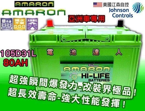 【鋐瑞電池】105D31L 限量100顆 愛馬龍 汽車電池 雙龍 現代 柴油車 SONATA TUCSON PAJERO