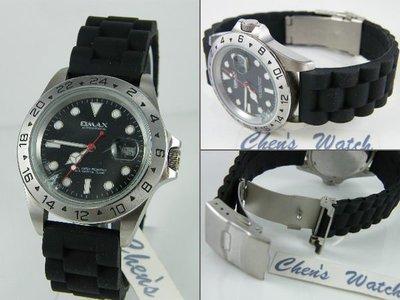 【錶帶家】勞力士 ROLEX 代用防水膠帶三珠款矽膠錶帶 20mm 19mm 16628 16238 116505 各款
