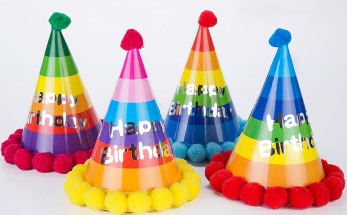 發光派對屋(西門中華店)@繽紛色彩生日派對帽 壽星帽 生日帽