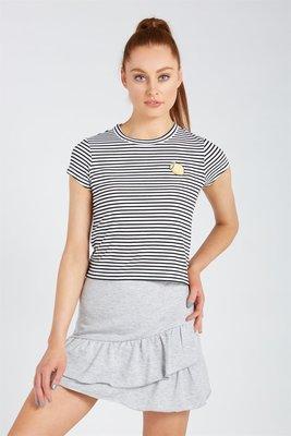 朵拉媽咪【全新】現貨 澳洲帶回 SUPRE 灰色 棉質 荷葉裙擺 彈性短裙 迷你裙 短裙 裙