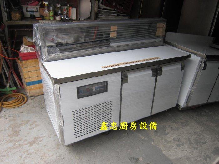 鑫忠廚房設備-餐養設備:手工冰箱系列-客製訂做工作檯卡布里冰箱(五尺)-賣場有-西餐爐-烤箱-水槽-快炒爐