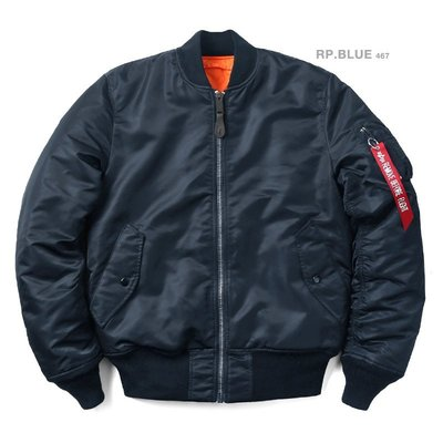 【Brand T】日版 ALPHA INDUSTRIES MA-1 TIGHT版*深藍色*合身窄版*飛行外套*MA1