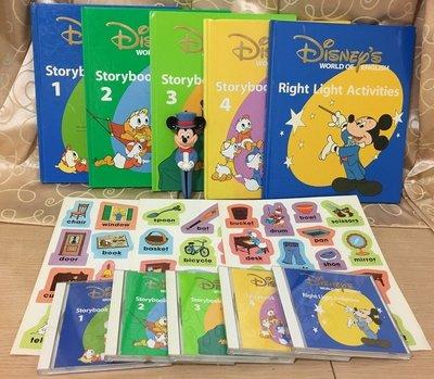 寰宇迪士尼美語世界 故事系列 Story Book 5本課本 5片CD 3張貼紙 送壞掉的 米奇對錯筆