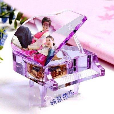 【格倫雅】^情人節禮物MP3機芯水晶鋼琴 生日結婚禮物鋼琴音樂盒水晶禮物任意下載歌曲7