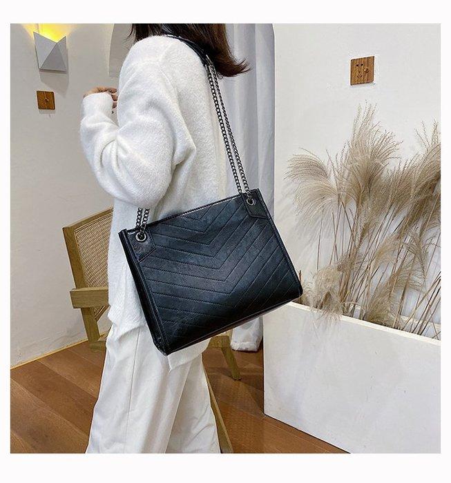 FINDSENSE X 韓國 女士 時尚刺繡線 多功能 大容量斜挎包 側背包 單肩包