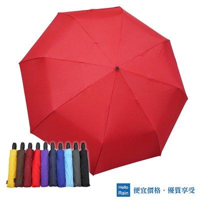 【Hello Rain】龍捲風防風自動雨傘(大紅)~138cm超大傘面