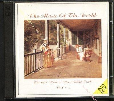 CD滿3張免運【MUSIC OF WORLD V.3~4】黃金雙碟演奏版~火戰車現代啟示錄E.T越戰獵鹿人電影曲~免競標