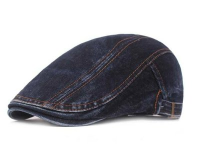 韓國爆款水洗牛仔布前進帽 小偷帽 貝蕾帽 鴨舌帽(W388)