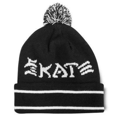 【THRASHER】Skate And Destroy Pom Beanie 毛帽 (黑色)