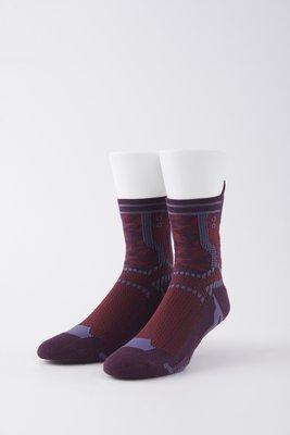 NOZZLE QUIZ|刻印結構中筒襪 蠶紫 22~28cm
