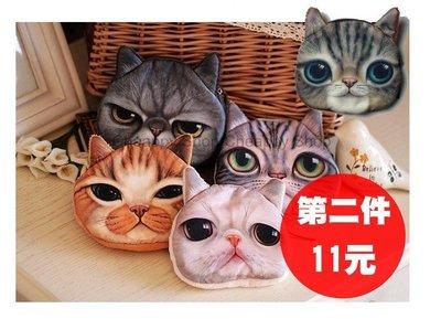 喵星人熱銷款貓咪大頭零錢包 卡夾 皮夾 可放悠遊卡 非後背肩背包包 Hanna【RB314】