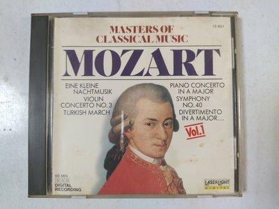 昀嫣音樂(CD24)  MASTERS OF CLASSICAL MUSIC VOL.1 美國壓片 1988年 片況如圖