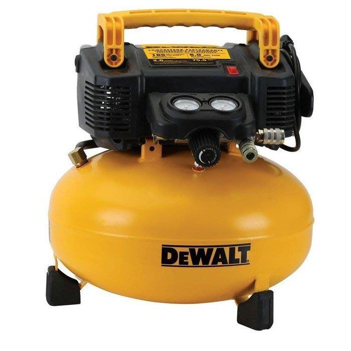 【大黃工具】全新公司貨 美國 DEWALT 得偉 插電式重型空壓機 165PSI無油空壓機 美洲製造 DWFP55126