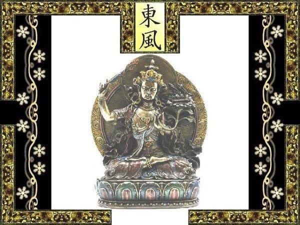 [ Vero 設計 手工彩繪 佛像系列-密宗 文殊舍利 菩薩 ]-右手舉火劍 神像 雕像.