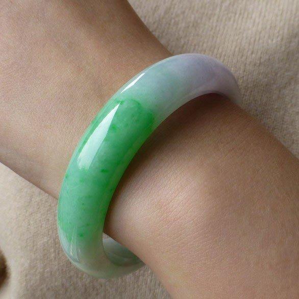 蘇菲家潮人館隆玉文化緬甸翡翠女款冰糯種紫羅蘭女款陽綠玉鐲子證書帶春彩手鐲