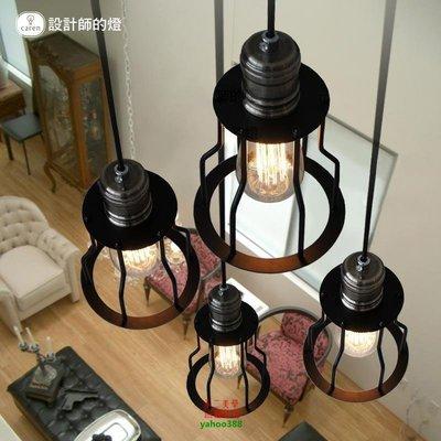 【美學】北歐吊燈工業燈單頭樓梯吊燈小鐵架MX_1462