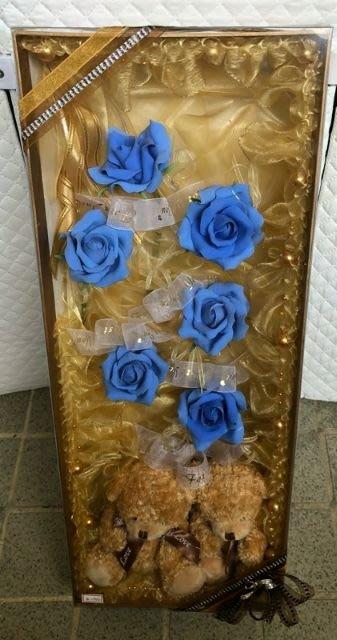 小熊玫瑰花束 獨一無二永不凋謝 送禮典藏 手工玫瑰 只有一個 台南可面交