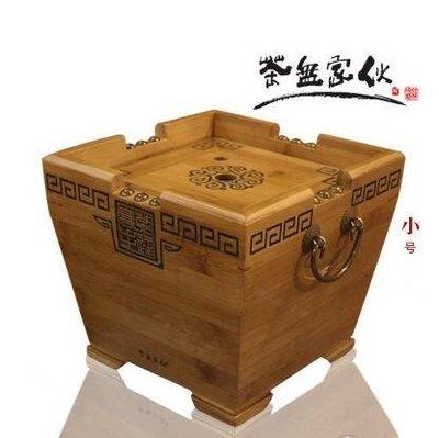 【優上】竹茶水桶小號茶桶茶渣桶茶葉桶廢水桶古典提手茶盤排水桶「小號」