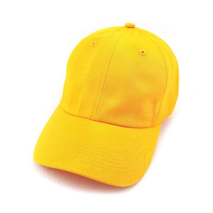 ☆二鹿帽飾☆(全素黃) 抗UV 休閒球帽/流行棒球帽/ 廚師帽/ 短帽簷7.5cm-台灣製-黃色