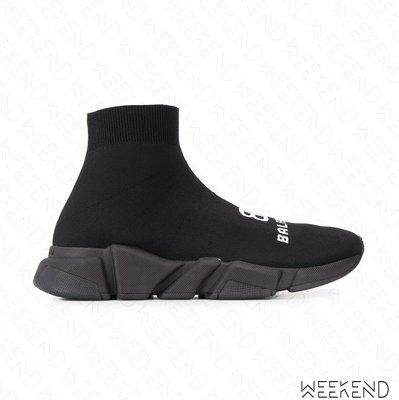 【WEEKEND】 BALENCIAGA Speed BB Logo 雙B 巴黎世家 襪套鞋 全黑色 20春夏