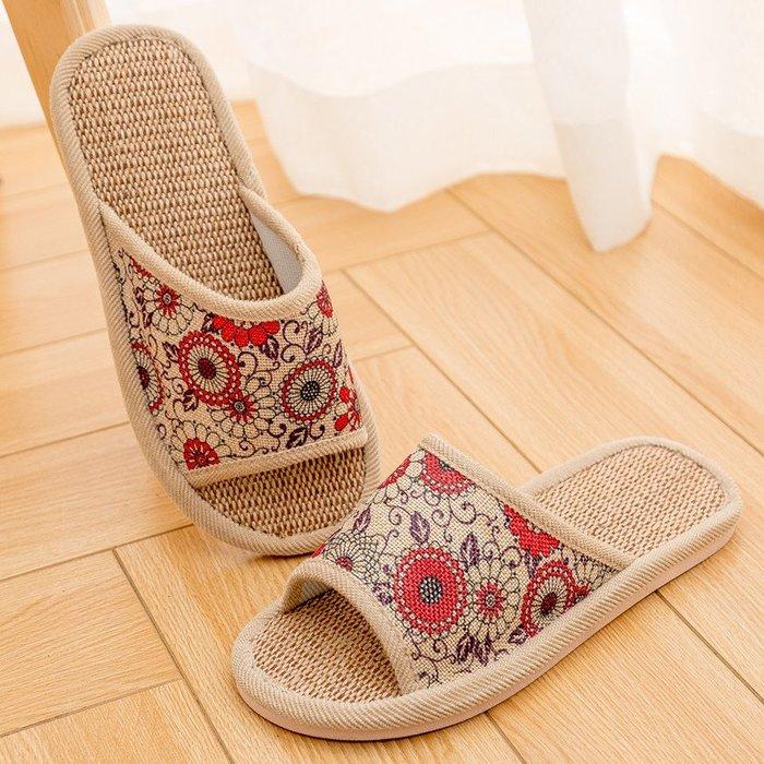 厚底涼 拖鞋 正韓家居家室內男女情侶棉麻亞麻拖鞋防滑吹氣軟厚底木地板涼拖鞋夏季