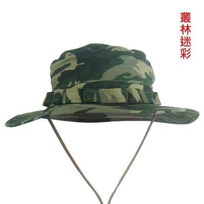 【露西小舖】戰術圓頂叢林迷彩帽圓邊帽圓...