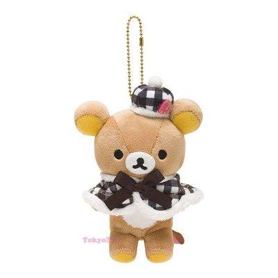 東京家族 拉拉熊巴黎草莓系列 懶懶熊 毛絨吊飾吉祥物