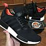 【 鋒仔球鞋】ADIDAS NMD R1 BOOST 黑底 紅尾 黑橘  網布  B37621