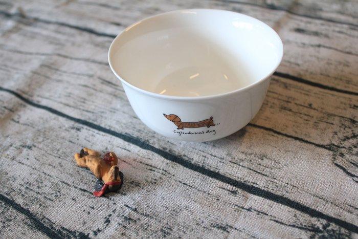 《官囍》愛寵物 臘腸狗 碗 吃飯碗 陶瓷碗  MIT 台灣製造 生日禮物 交換禮物【GX0509】