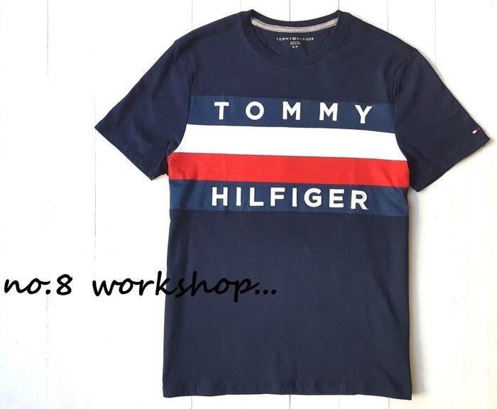 ☆【TH男生館】☆【TOMMY HILFIGER LOGO貼布短袖T恤】☆【TOM001T3】(S-M)11/9