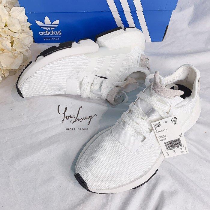 【Luxury】Adidas POD S3.1 愛迪達 白 女鞋 boost底 B42059 慢跑鞋 韓國代購 正品
