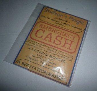 【意凡魔術小舖】魔術道具Emergency Cash by Shufton Magic緊急兌現--ATM提現信封+獨家教學演片