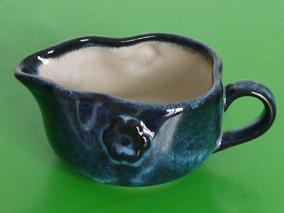 流紋燒藍釉公道杯