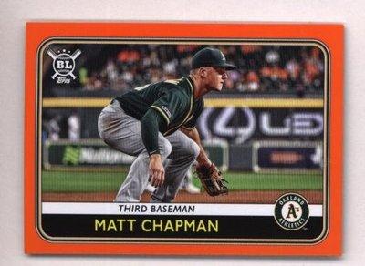 橘邊特卡 2020 Topps Big League Orange #205 Matt Chapman
