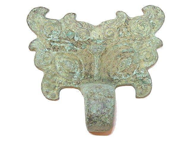 【 金王記拍寶網 】T296  出土文物 青銅器 青銅獸面銅扣  罕見稀少