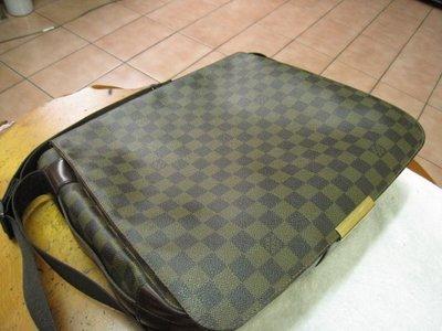 LOUIS VUITTON LV N45258 咖啡格紋斜背包-棋盤格--王建民包-(2手精品)