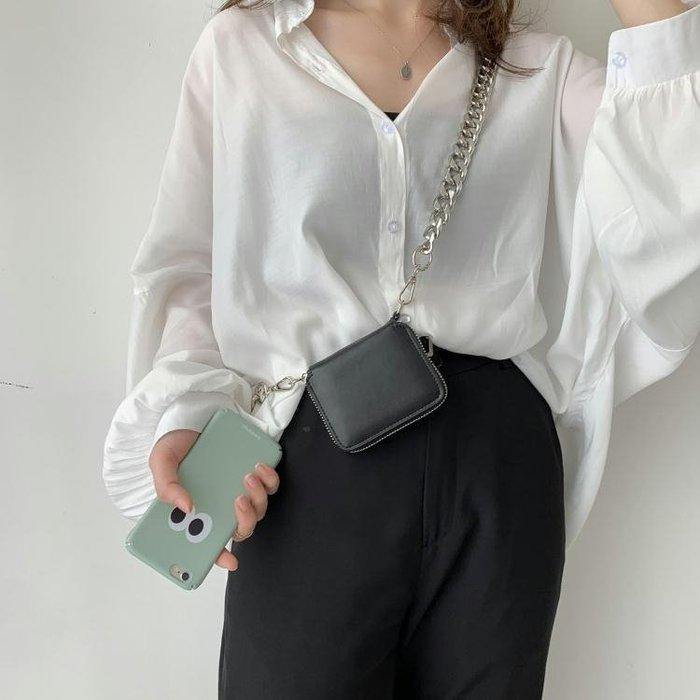 (免運)小眾設計2019歐美潮牌粗練條 斜挎包 mini包 錢包 零錢包 小【莉芙小鋪】