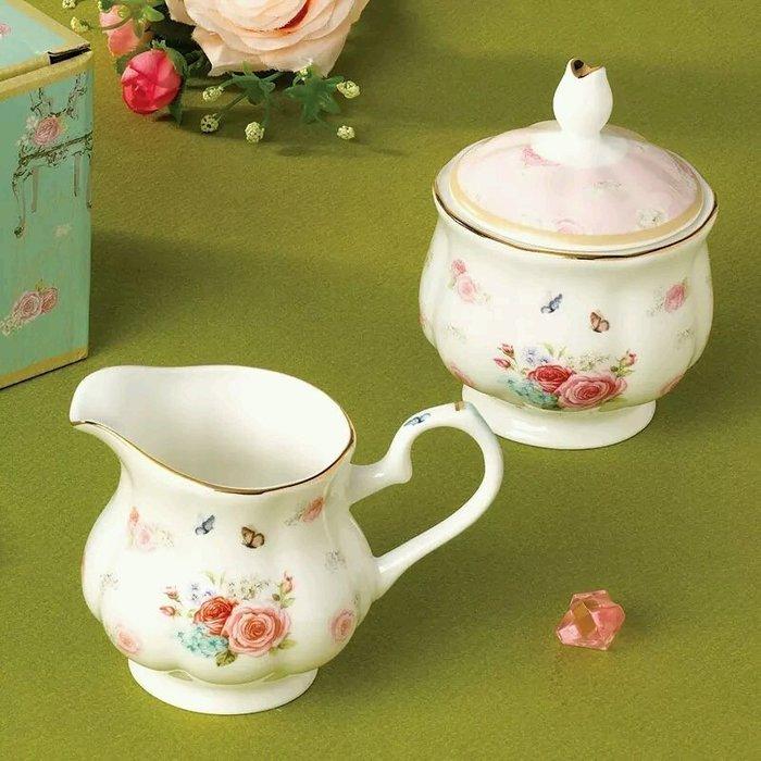 粉紅玫瑰精品屋~歐式下午茶咖啡奶罐套裝~