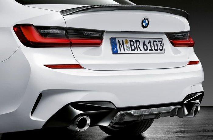 【樂駒】BMW G20 M Performance 原廠碳纖維 Carbon 後下擾流 改裝 套件 後下巴 精品